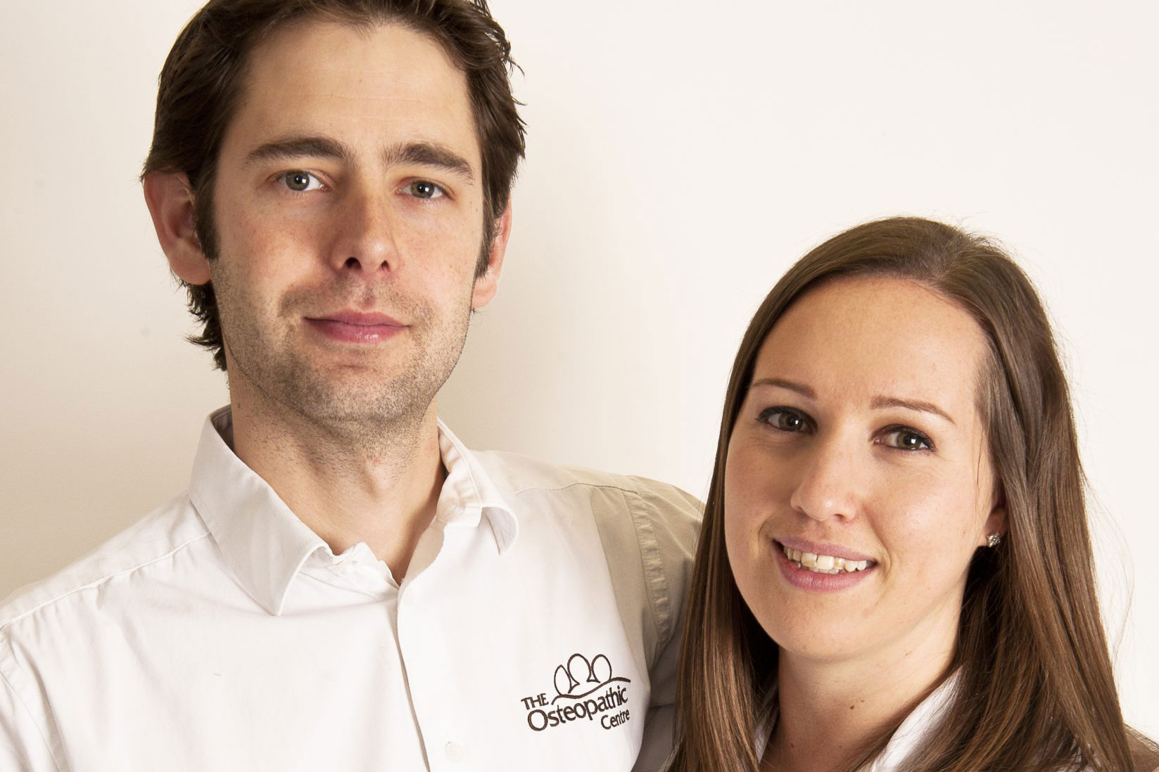 Louise North and Patrick Pearce, registered Osteopaths