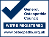 We are registered with the General Osteopathic Council